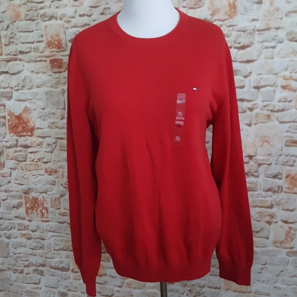 Tommy Hilfiger Other - New Tommy Hilfiger Red Crew Neck Sweater